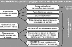 Расход материнского капиталла